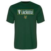 Performance Dark Green Tee-Lacrosse Helmet Design