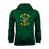 Dark Green Fleece Hood-Hockey