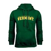 Dark Green Fleece Hood-Arched University of Vermont
