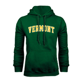 Dark Green Fleece Hood-Arched Vermont