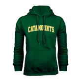 Dark Green Fleece Hood-Arched Catamounts