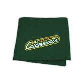 Dark Green Sweatshirt Blanket-Slanted Vermont Catamounts