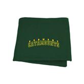 Dark Green Sweatshirt Blanket-Arched Vermont Catamounts