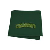 Dark Green Sweatshirt Blanket-Arched Catamounts