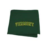 Dark Green Sweatshirt Blanket-Arched Vermont