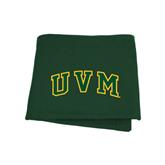 Dark Green Sweatshirt Blanket-Arched UVM