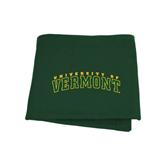 Dark Green Sweatshirt Blanket-Arched University of Vermont