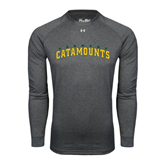 Under Armour Carbon Heather Long Sleeve Tech Tee-Arched Vermont Catamounts