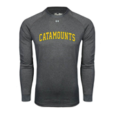 Under Armour Carbon Heather Long Sleeve Tech Tee-Arched Catamounts