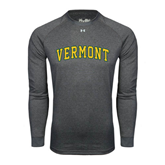 Under Armour Carbon Heather Long Sleeve Tech Tee-Arched Vermont
