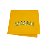 Gold Sweatshirt Blanket-Arched Vermont Catamounts