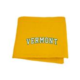 Gold Sweatshirt Blanket-Arched Vermont