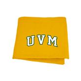 Gold Sweatshirt Blanket-Arched UVM
