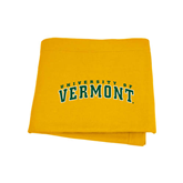 Gold Sweatshirt Blanket-Arched University of Vermont