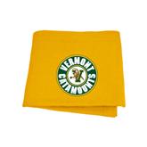 Gold Sweatshirt Blanket-Vermont Catamounts Circle