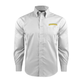Red House White Long Sleeve Shirt-Arched Vermont Catamounts