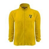 Fleece Full Zip Gold Jacket-Official Logo
