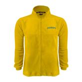 Fleece Full Zip Gold Jacket-Arched Vermont Catamounts