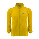 Fleece Full Zip Gold Jacket-Slanted Vermont Catamounts