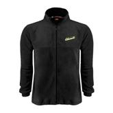 Fleece Full Zip Black Jacket-Slanted Vermont Catamounts
