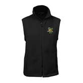 Fleece Full Zip Black Vest-Official Logo