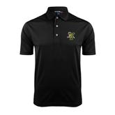 Black Dry Mesh Polo-Official Logo