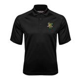 Black Textured Saddle Shoulder Polo-Official Logo
