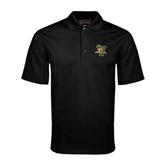 Black Mini Stripe Polo-Official Logo