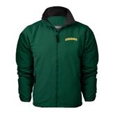 Dark Green Survivor Jacket-Arched Vermont Catamounts