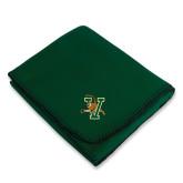 Dark Green Arctic Fleece Blanket-Official Logo