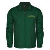 Full Zip Dark Green Wind Jacket-Arched Vermont Catamounts