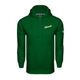 Under Armour Dark Green Performance Sweats Team Hoodie-Slanted Vermont Catamounts