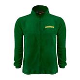 Fleece Full Zip Dark Green Jacket-Arched Vermont Catamounts
