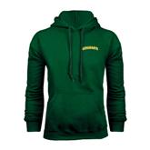 Dark Green Fleece Hood-Arched Vermont Catamounts