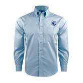 Red House Lt Blue Long Sleeve Shirt-Official Logo