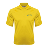 Gold Textured Saddle Shoulder Polo-Arched Vermont Catamounts