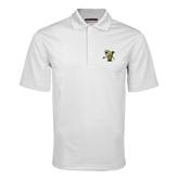 White Mini Stripe Polo-Official Logo