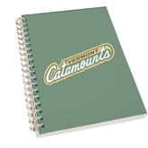 Clear 7 x 10 Spiral Journal Notebook-Slanted Vermont Catamounts