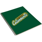 College Spiral Notebook w/Black Coil-Slanted Vermont Catamounts