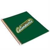 College Spiral Notebook w/Gold Coil-Slanted Vermont Catamounts