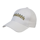 White Heavyweight Twill Pro Style Hat-Arched Vermont Catamounts