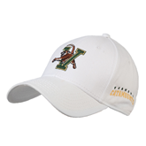 White Heavyweight Twill Pro Style Hat-Official Logo