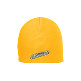 Gold Knit Beanie-Slanted Vermont Catamounts