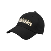 Black Heavyweight Twill Pro Style Hat-Arched Vermont Catamounts