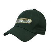 Dark Green Heavyweight Twill Pro Style Hat-Slanted Vermont Catamounts