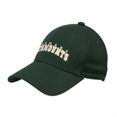 Dark Green Heavyweight Twill Pro Style Hat-Arched Vermont Catamounts