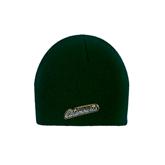Dark Green Knit Beanie-Slanted Vermont Catamounts