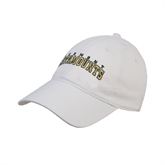 White Twill Unstructured Low Profile Hat-Arched Vermont Catamounts