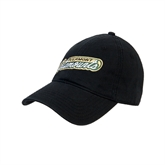Black Twill Unstructured Low Profile Hat-Slanted Vermont Catamounts