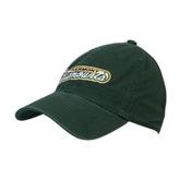 Dark Green Twill Unstructured Low Profile Hat-Slanted Vermont Catamounts